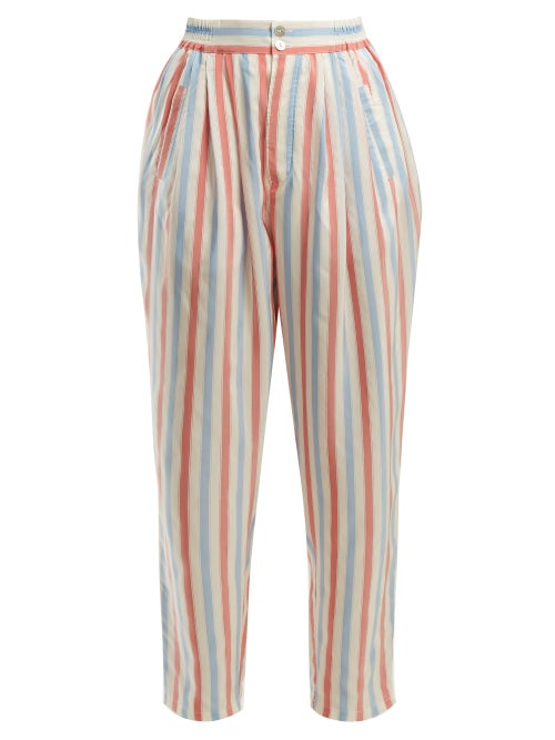 Thierry Colson Sam Striped Silk Trousers OnceOff