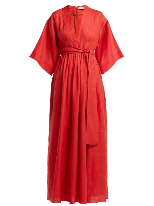 Three Graces London Ferrers Belted Linen Dress OnceOff
