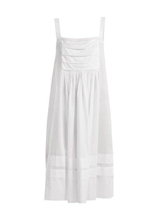 Three Graces London Linton Pleated Cotton Mini Nightdress OnceOff