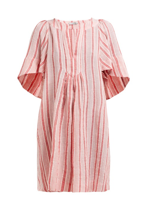 Three Graces London Prudence Striped Linen Blend Dress OnceOff