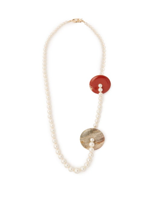 Timeless Pearly Perla Pearl & Stone Necklace OnceOff