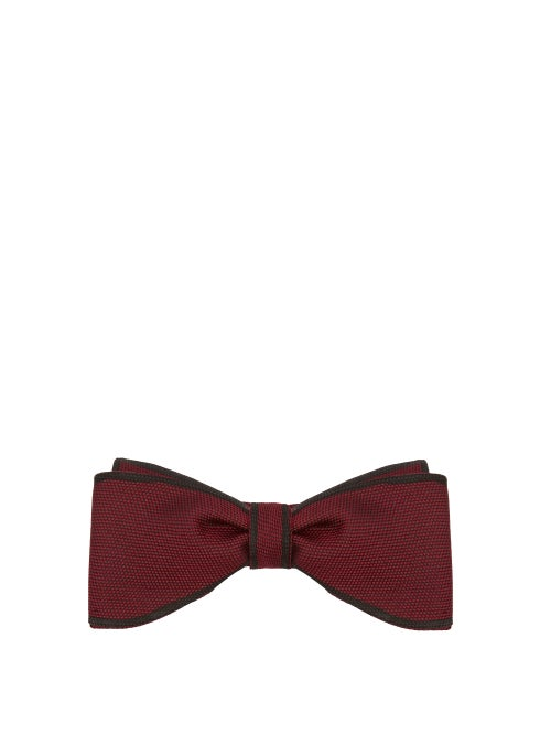 Title Of Work Contrast Edge Silk Piqué Bow Tie OnceOff