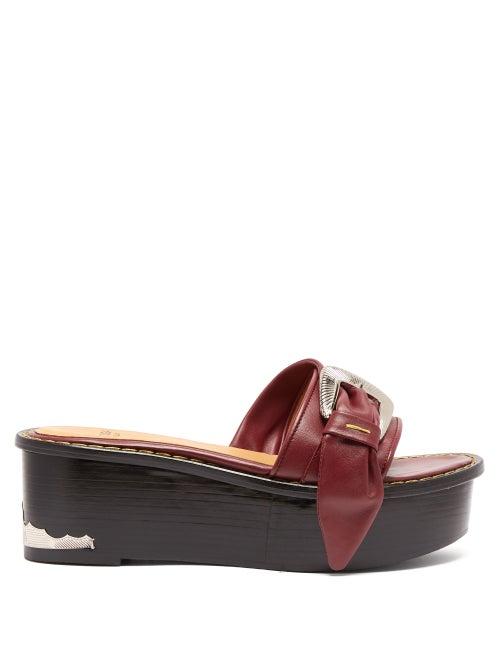 Toga Leather Flatform Mule Sandals OnceOff