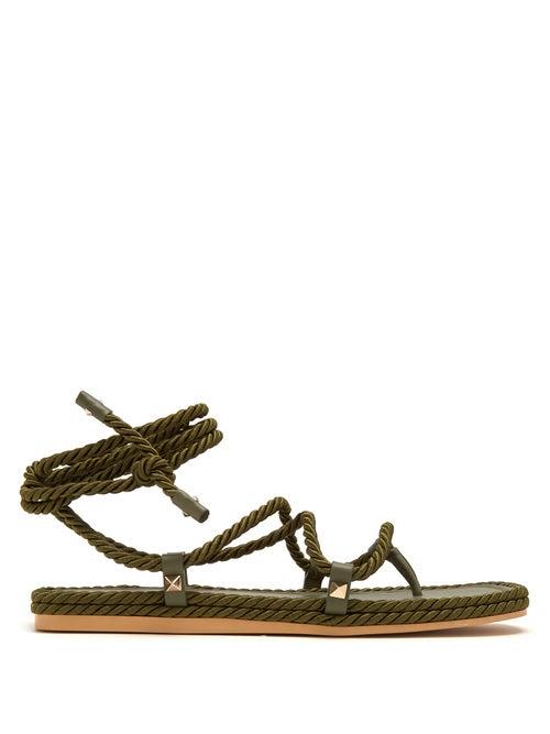 Valentino Torchon Satin Rope Wraparound Sandals OnceOff