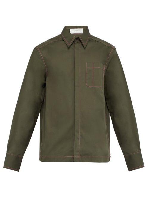 Wales Bonner Oversized Patch Pocket Cotton Shirt OnceOff
