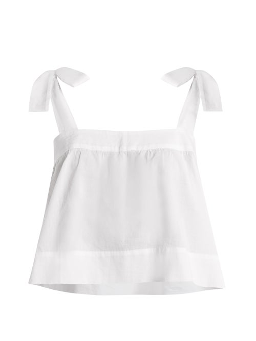 Wiggy Kit Bow Detail Cotton Cami Top OnceOff