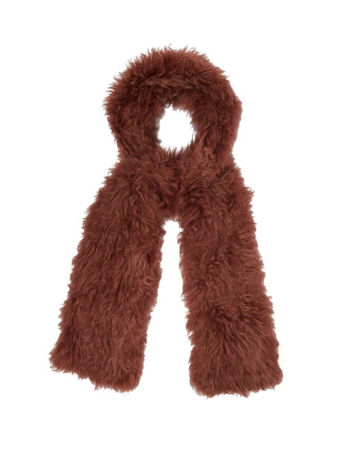 Yves Salomon Shearling Scarf OnceOff
